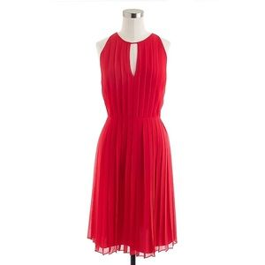 J. Crew Pleated Chiffon Dress